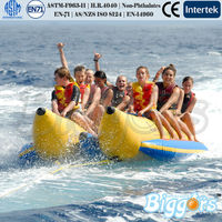 2014 Water Game Ocean Beach Crazy Fun Double Banana Boat Durable For Rental