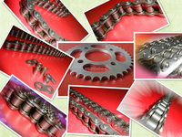 High Quality Chain and Sprocket YBR125 ,Motorcycle Chain and Sprocket