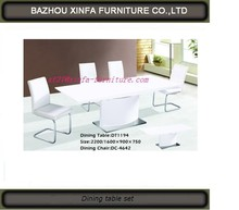 popular furniture white MDF dining table in good taste