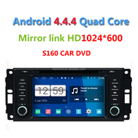 2015 Newest S160 Quad core Android 4.4.4 Car DVD for Jeep Wrangler Dodge Journey Chrysler Sebring 300C Grand Voyager