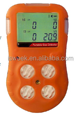 Multi Gas Detector for CH4, H2S, CO, O2 4 Gas Detection IX616