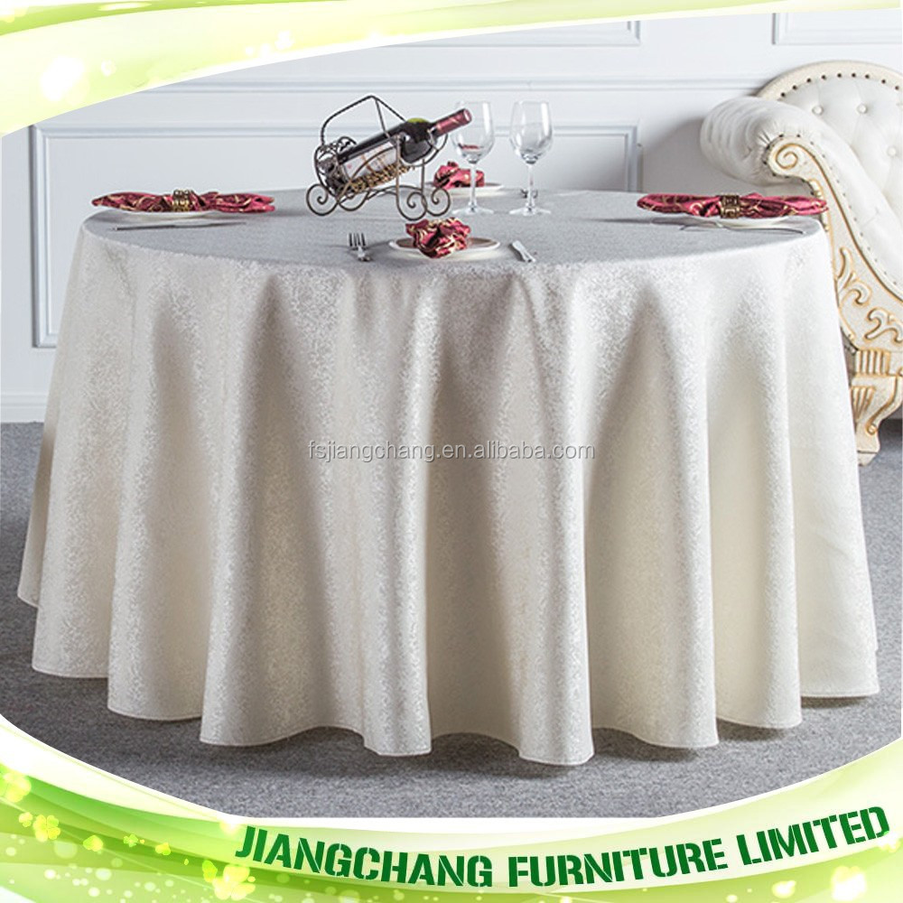 Elegant embroidered white tablecloth JC-ZB06