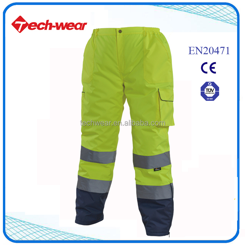 Hi Vis cheap mens colored cargo pants with side pockets