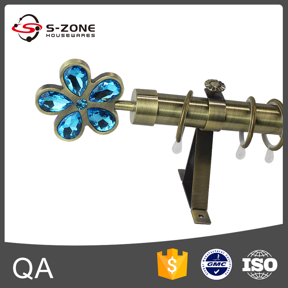 28mm Brass Double Tension Curtain Rod Pole - Buy Tension Curtain Rod ...