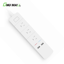 New Products FCC US Plug 3 Outlets 2 USB Ports WIFI Smart Power Strip