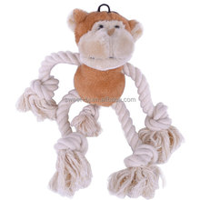Hot selling Amazon dog squeak toy stuffed pluche monkey