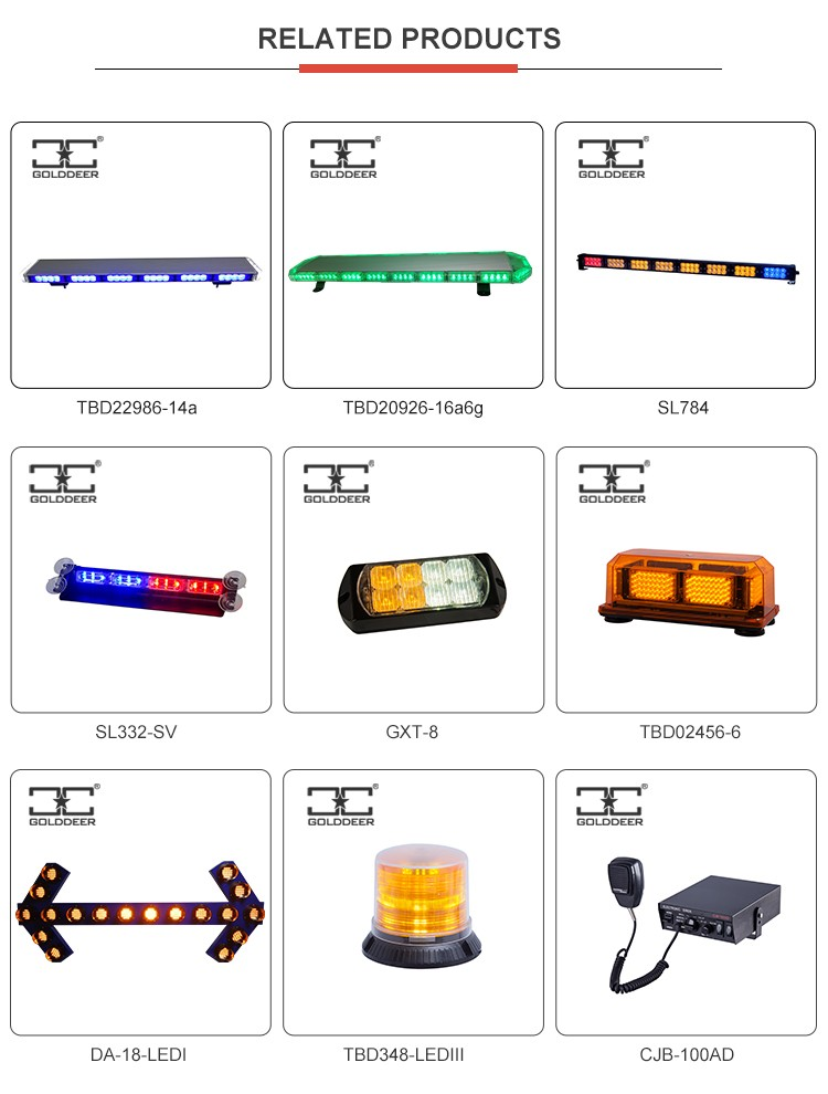 Screw Magnetic Ambulance Led Amber Strobe Beacon Light