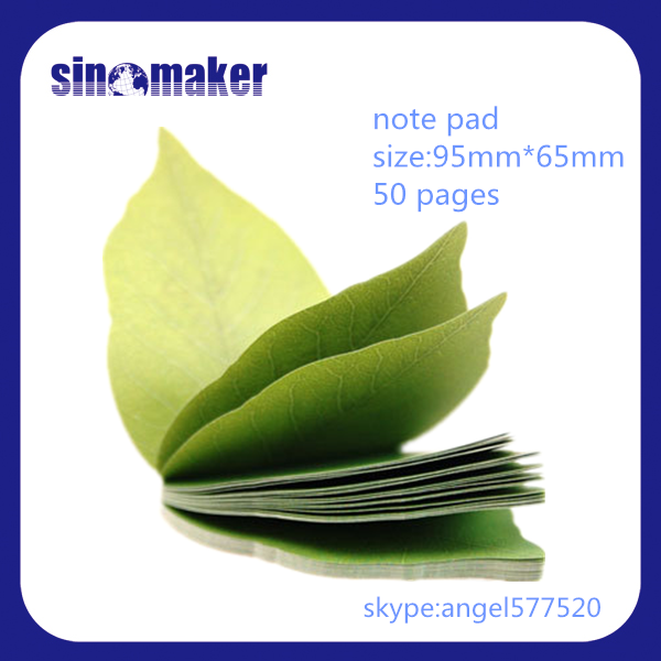 Leaf shape note paper / removable note pad / paper sticky note