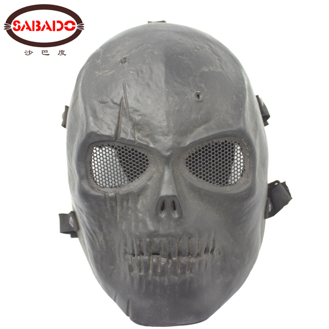 Tactical Face Protector Airsoft Black Skull Scary Skeleton Military Mask