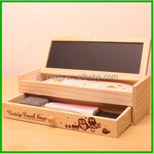 Hot Sale Beautiful Wooden Pencil Case with Drawer
