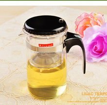 New design clear glass tea pot can removable and washable tea pot
