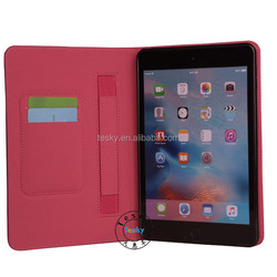 For apple iPad mini 4 Leather Case with Wallet and Stand Function