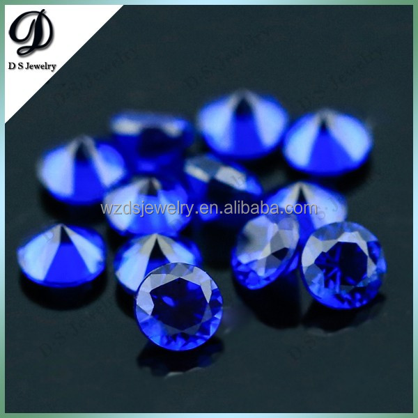Machine cut faceted spinel stone blue spinel gems synthetic spinel gemstones