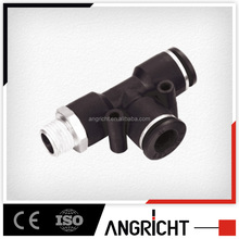 A140 PD Pneumatic 6mm Male Thread Tee Shaped One Touch Quick Fitting,air push fit bsp fitting