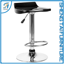 Adjustable swivel ABS Plastic material bar stools with low back