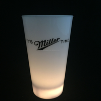 2016 Fashion Logo printing 3Led Plastic Glowing In the Dark Flashing Cola Cup