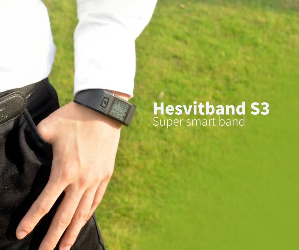 All in one Hesvit S3 Bluetooth Smart Sport Bracelet Heart Rate Monitor Pulse Wristband with CE FCC Rohs BQB RCM SRRC