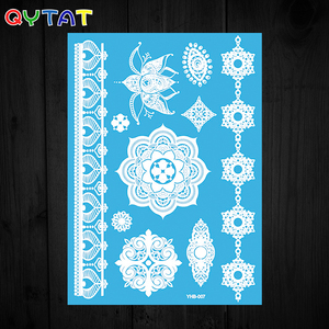 High Quality Custom Ink Printing White Henna Tattoo Stickers