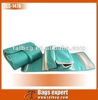Promotional Green 600D pvc travel hanging wash bag,cosmetic bag,personalized cosmetic bags wash gargle bag
