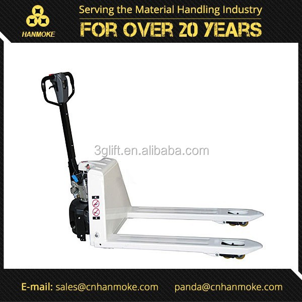 Chinese supplier 2 ton DC powered walkie mini semi electric pallet truck for sale