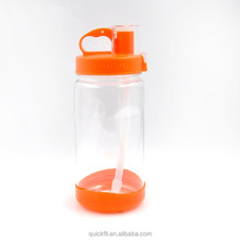 1000ml high-capacity Drinking,with dust cover and straw easy carry Water Bottle