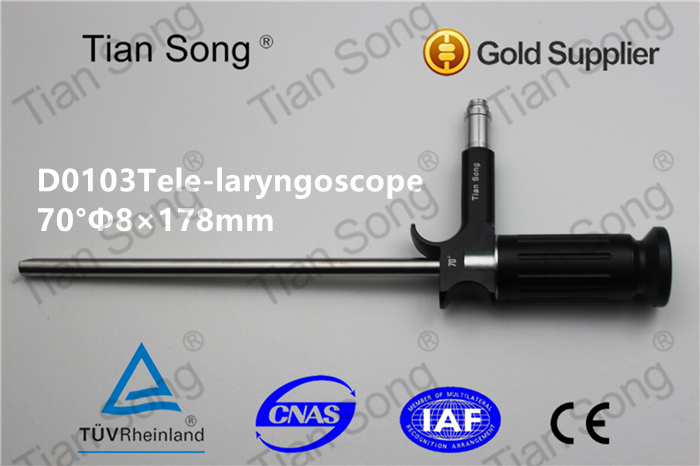 TianSong brand 8mm Laryngoscope compatible with Storz Olympus Wolf