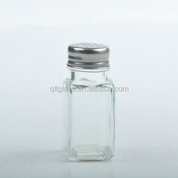 Food grade wholesale 3oz round or square glass spice jar with lid