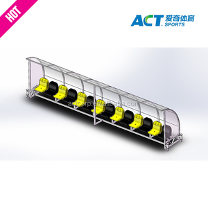 6 seats mobile soccer substitute bench with good quality