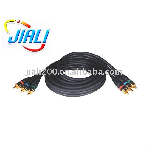Component Audio Video Cable gold 3RCA