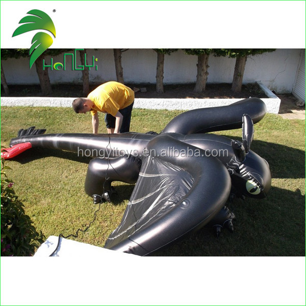 inflatable black toothless dragon (4)