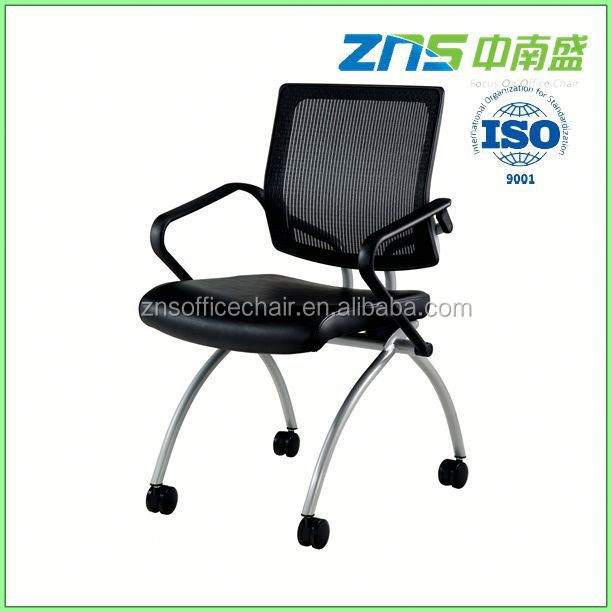 806-02 PU leather seat cheap metal folding chairs with writing pad