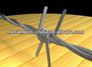 high quality low carbon steel wire galvanized/PVC barbed wire