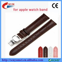 2015 Customise genuine leathe for iwatch Strap Band For apple time watch ,watch bands leather thin