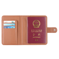 Customized Logo Brown Leather Passport Holder High Quality Rfid