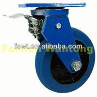 Heavy Duty Industrial Rubber Rotating Hardware push cart caster wheels
