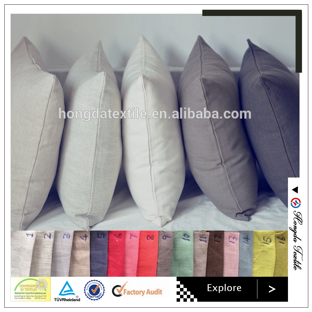 Customized Linen or cotton plain Adults Age Group and Square Shape 45x45cm cushion cover