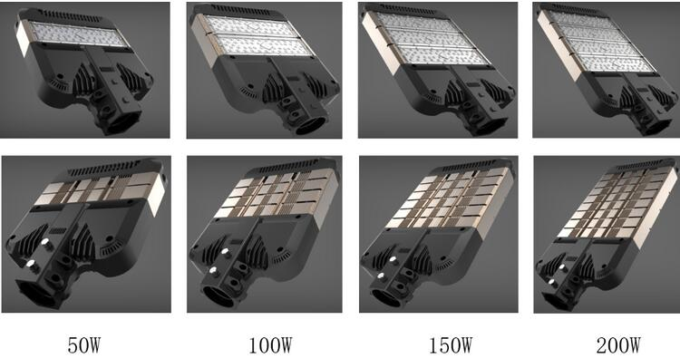 Security light high lumens integrated design shoebox 200W LED Street Light Lamp