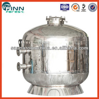 Big size tank diameter 1800mm commercial use industrial stainless steel sand filter swimming pool water well sand filter
