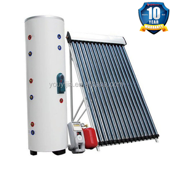 EN12975 CSA SRCC heat pipe closed loop split pressurized solar water heating system