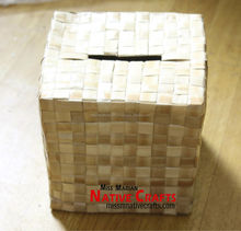 Lauhala, Pandanus Wishing Card Box - Raw Box