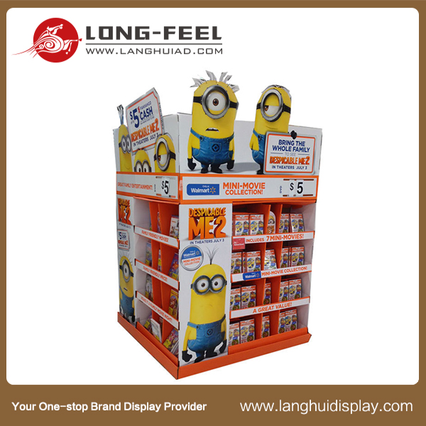 Long Feel Custom Snacks Pop cardboard display Racks, customization cardboard display unit, sex doll cardboard display stand