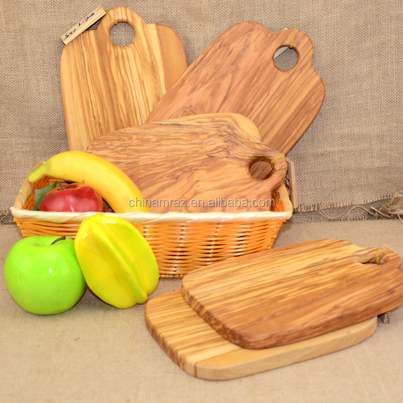 Italian Olive Wood Real Wood Chopping Block Sushi Plate Cheese Board