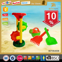 Plastic funnel with water can beach toy for summer