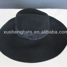 fashion ladies wool felt wide brim fedora hats