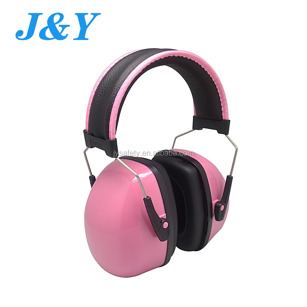 Pink Ear Muffs Safety 27dB High NRR Professional Hearing Protector For Shooting Working Mowing Drilling Fits From Adult to Kids