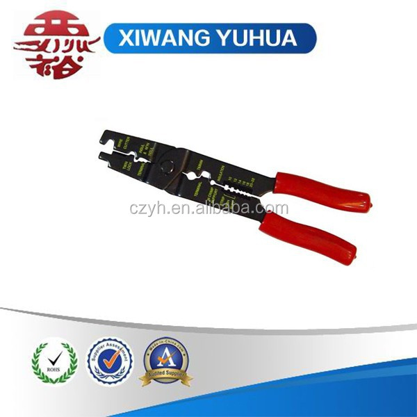 7 way carbon steel crimping tool with pcv hadle