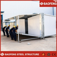 stackable and foldable folding kiosk prefab container apartment