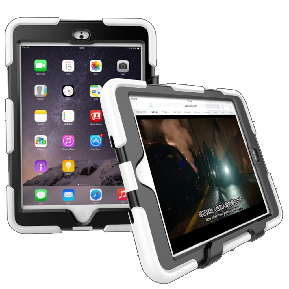 Kids Shockproof Cover PC Kickstand Silicone Case For iPad Mini 3 Tablet Case