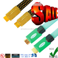 2015 best price 15M 50FT Gold Plated Connection HDMI Cable V1.4 HD 1080P for LCD DVD HDT Samsung