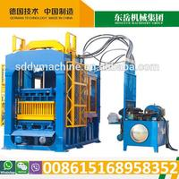 Hydraulic QT6-15B brick making machine used in construction (39 set in India)